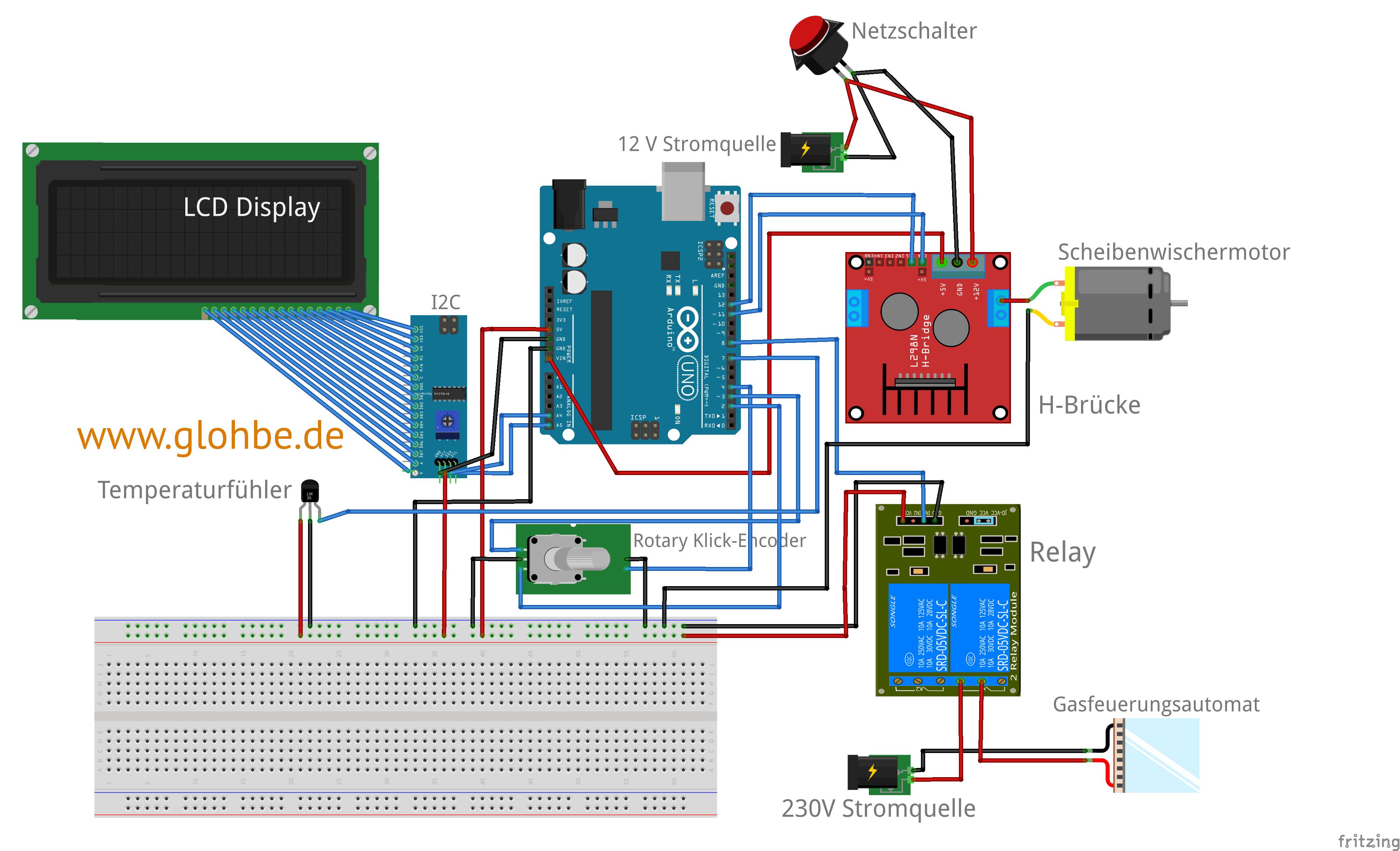 arduino brausteuerung anleitung f r eine automatische. Black Bedroom Furniture Sets. Home Design Ideas