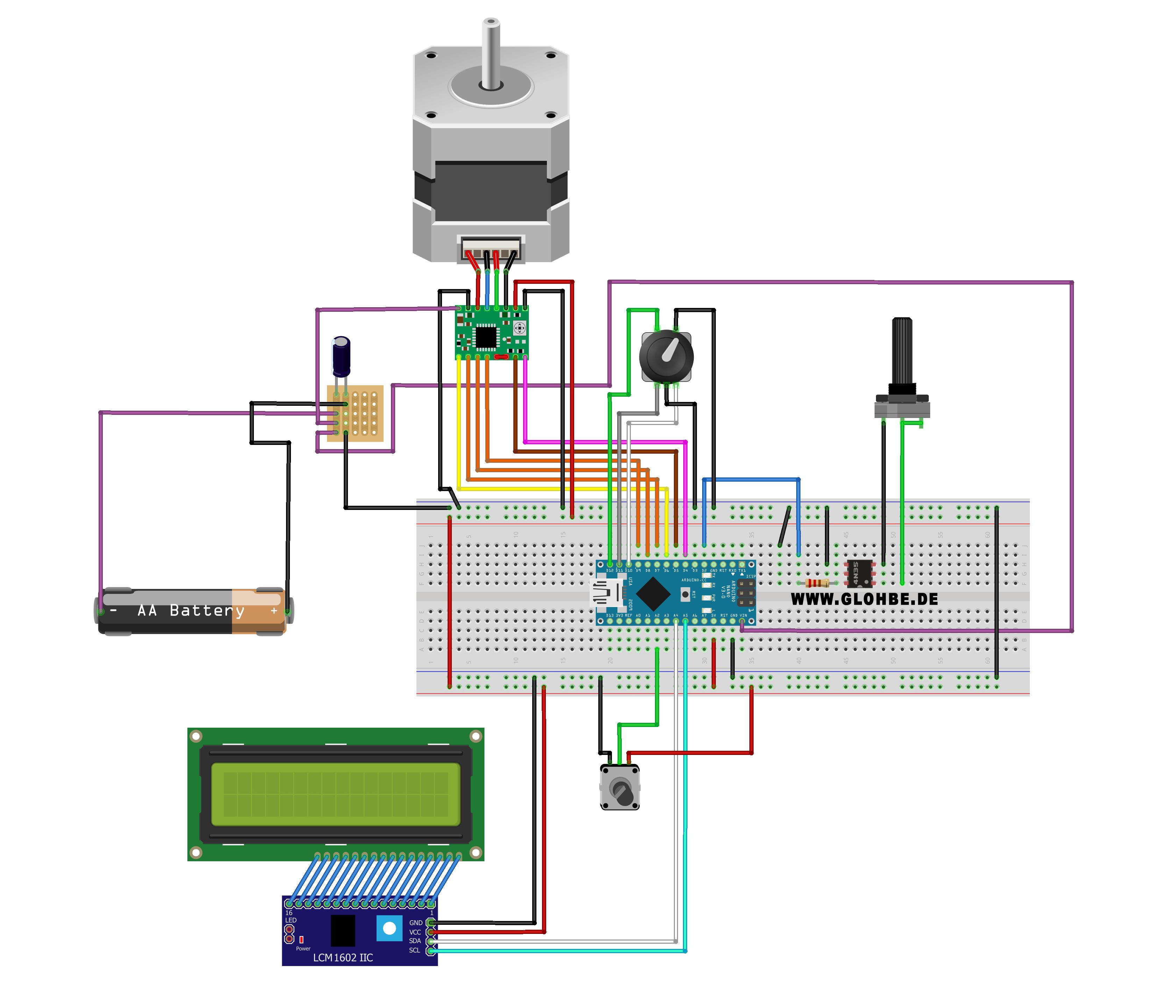 Steuerung Camera Slider Selbstbau mit Arduino
